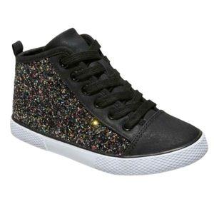 CAT & JACK | Zandra Mid Top Sneaker Black Glitter